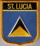St. Lucia Embroidered Flag Patch, style 07.